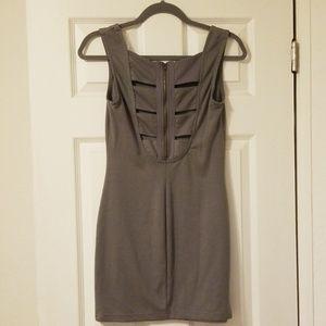 Cut out back mini dress
